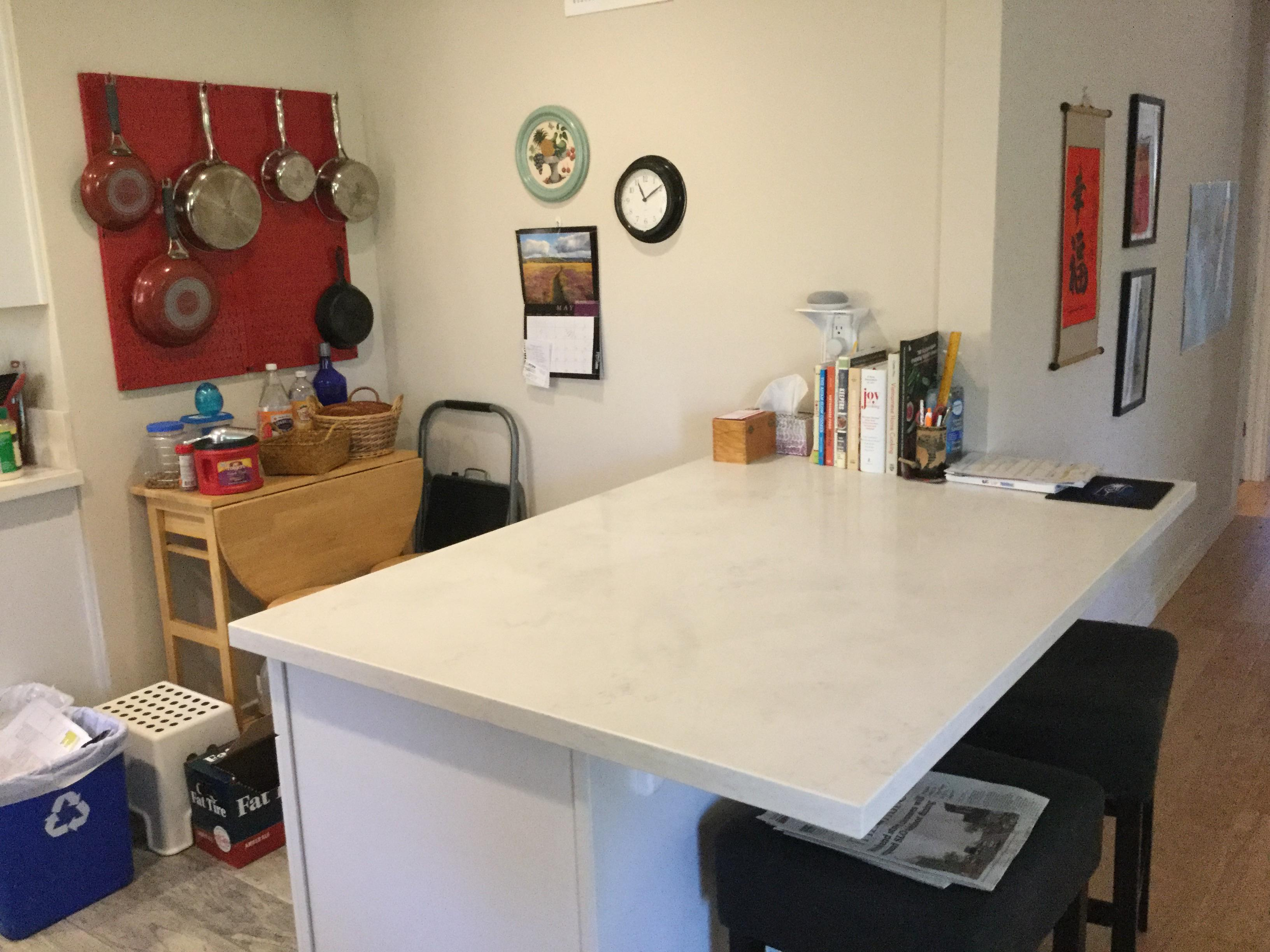 Finally Decluttered My Kitchen Island Breakfast Bar Organization