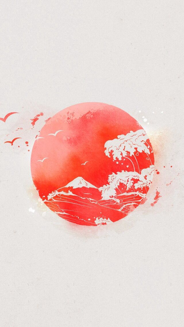 This japanese flag wallpaper is beuatiful