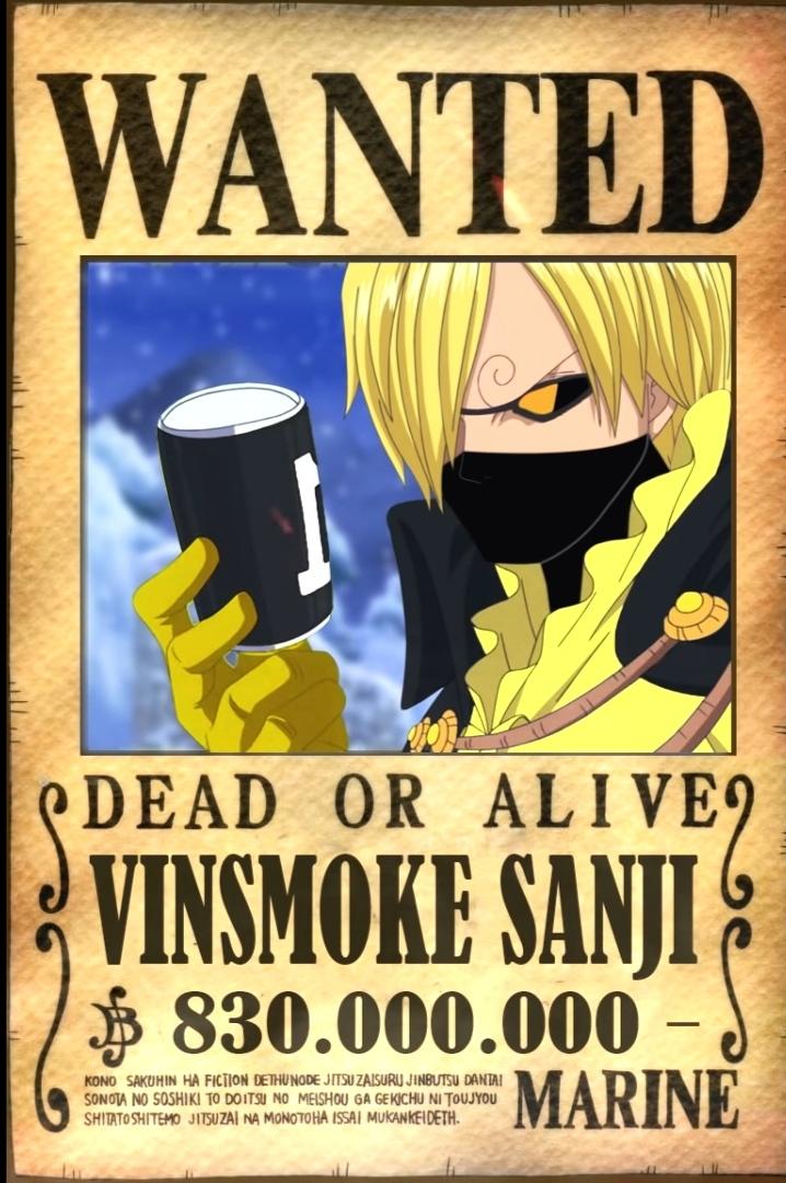 Diprediksikan angkanya bisa mencapai lebih dari 1 … Vinsmoke Sanji Bounty After Wano Onepiece