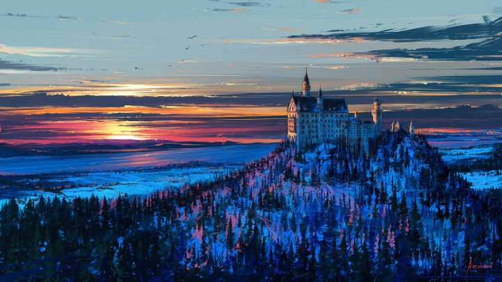 Castle in the sky by Alena Aenami