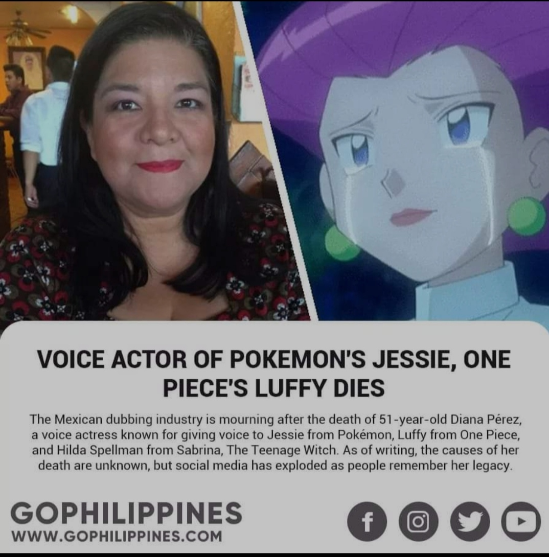 Veteran voice actress mayumi tanaka has been voicing luffy from one piece for 20 years. Rip Mexican Voice Actor Of Luffy And Jessie From Pokemon Onepiece