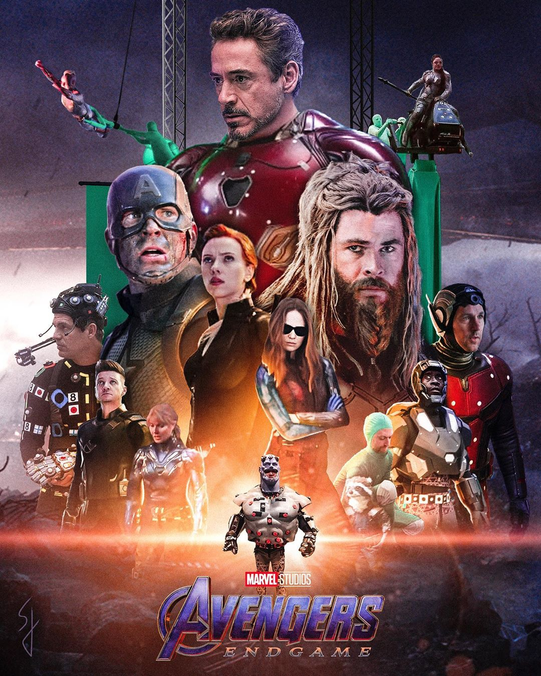 avengers endgame with no cgi poster by