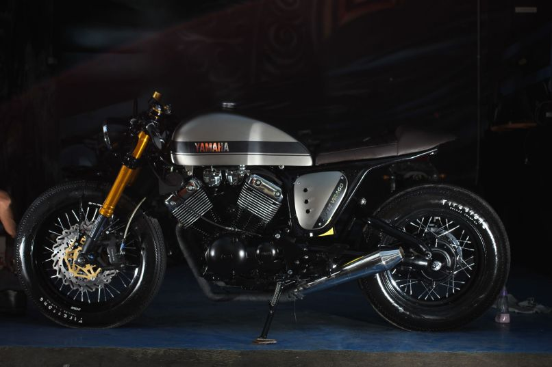 The Clyro A 1997 Yamaha Xv535 Virago That Has Been Cafe Racer Ized