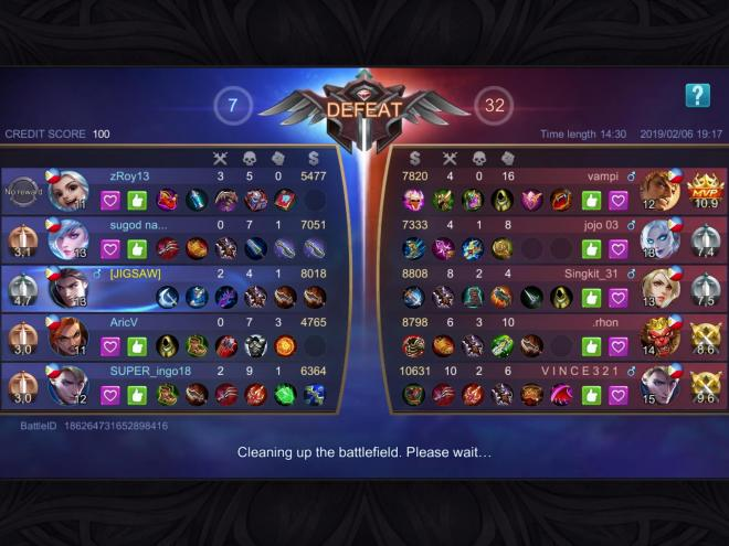 a usual game at mobile legends bang bang 😀 : mobilelegends