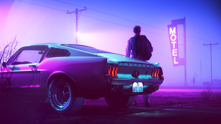 [3840 x 2160] Neon Stylish Car