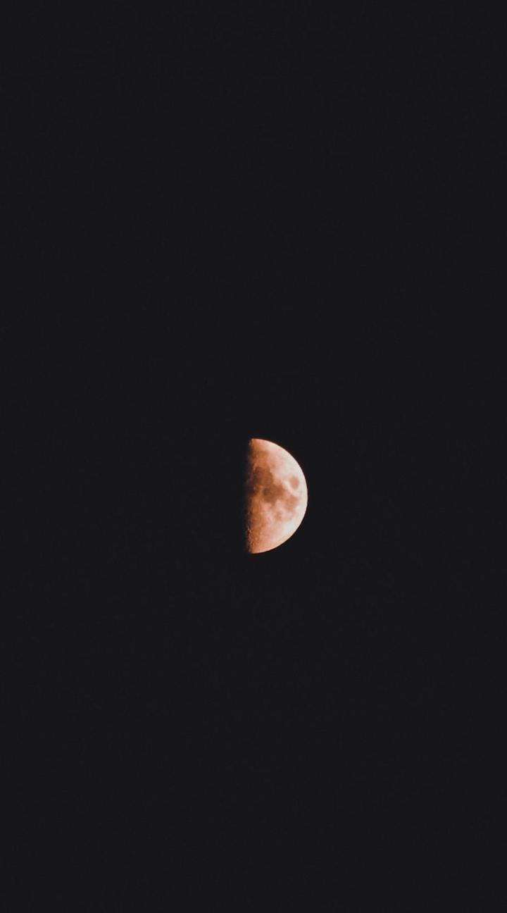 half moon close-up