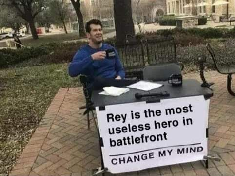 Not quite true, Rey isn't entirely bad but I want to hear ...