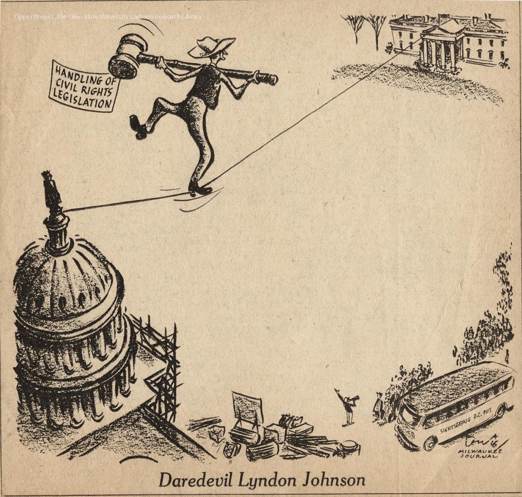 Daredevil Lyndon Johnson Propagandaposters