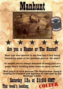 Manhunt, a Wapinschaw event. More info in the comments [Ps4] : RedDeadOnline