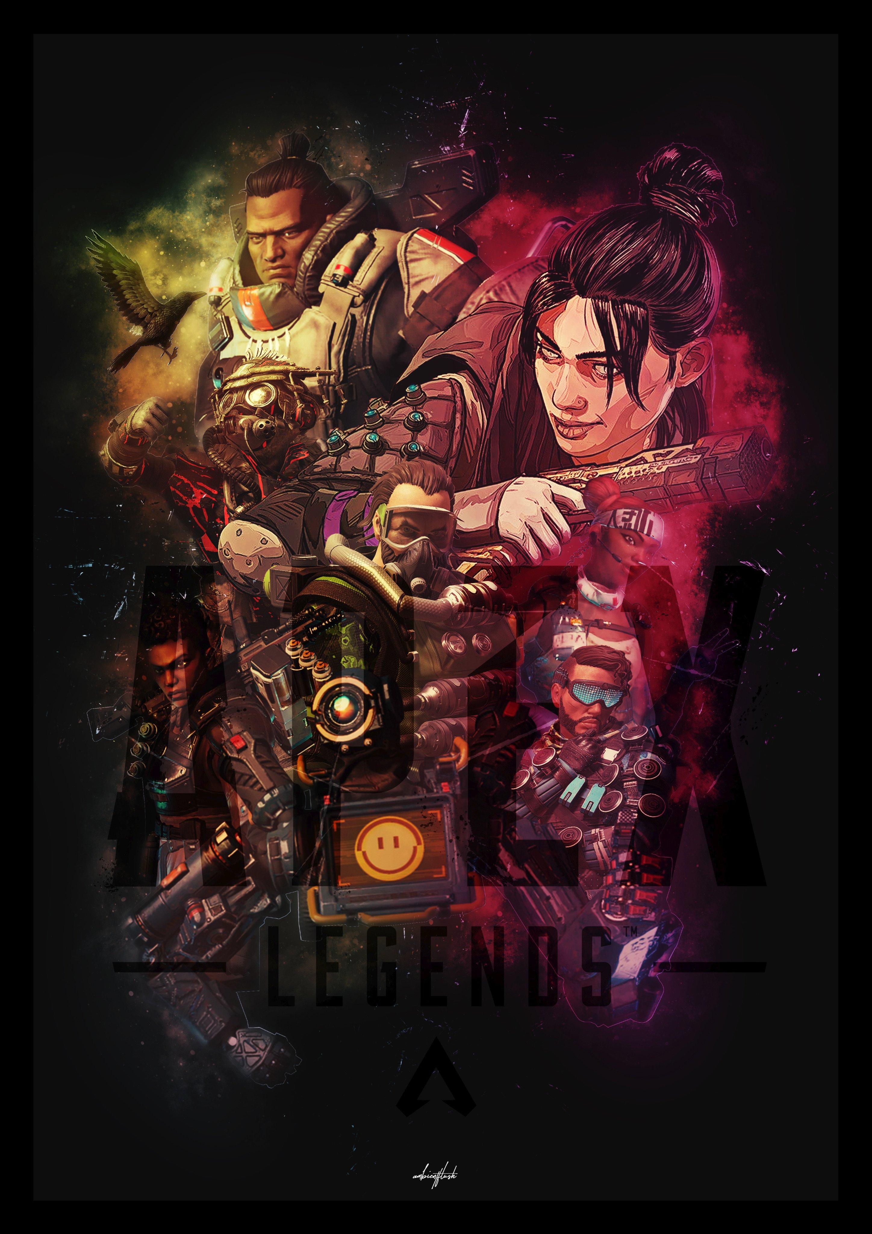 made this apex legends poster apexlegends
