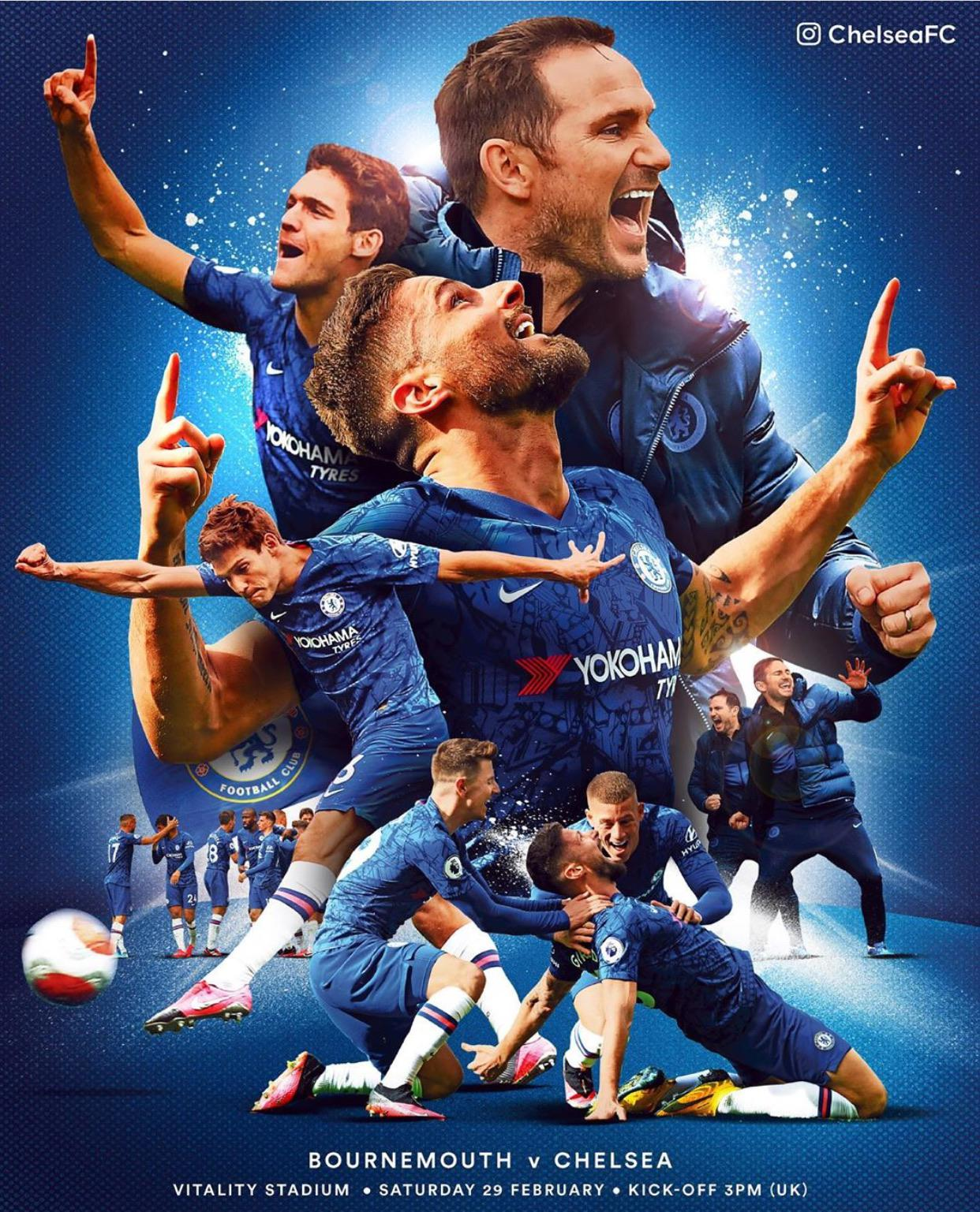 match day poster chelseafc