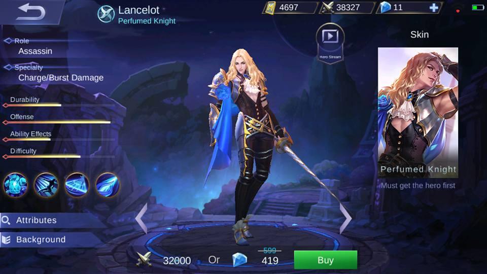 New Hero Lancelot Perfumed Knight Mobilelegends