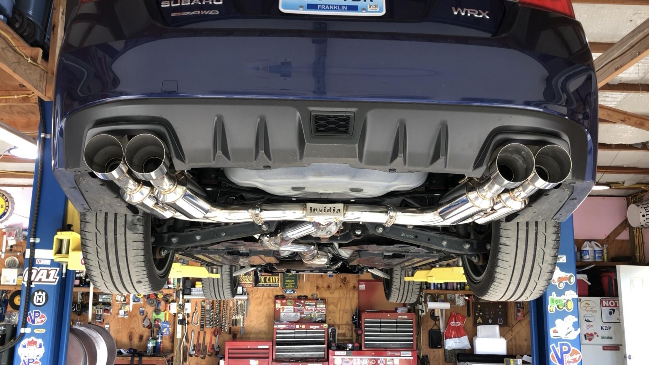 invidia r400 cat back exhaust installed
