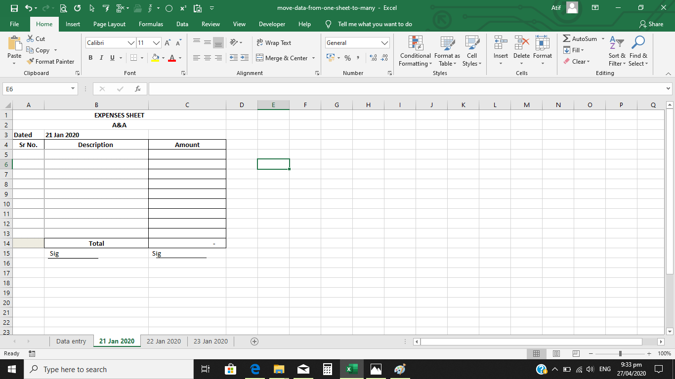 Vba Code In Excel To Transfer Data From Master To Many