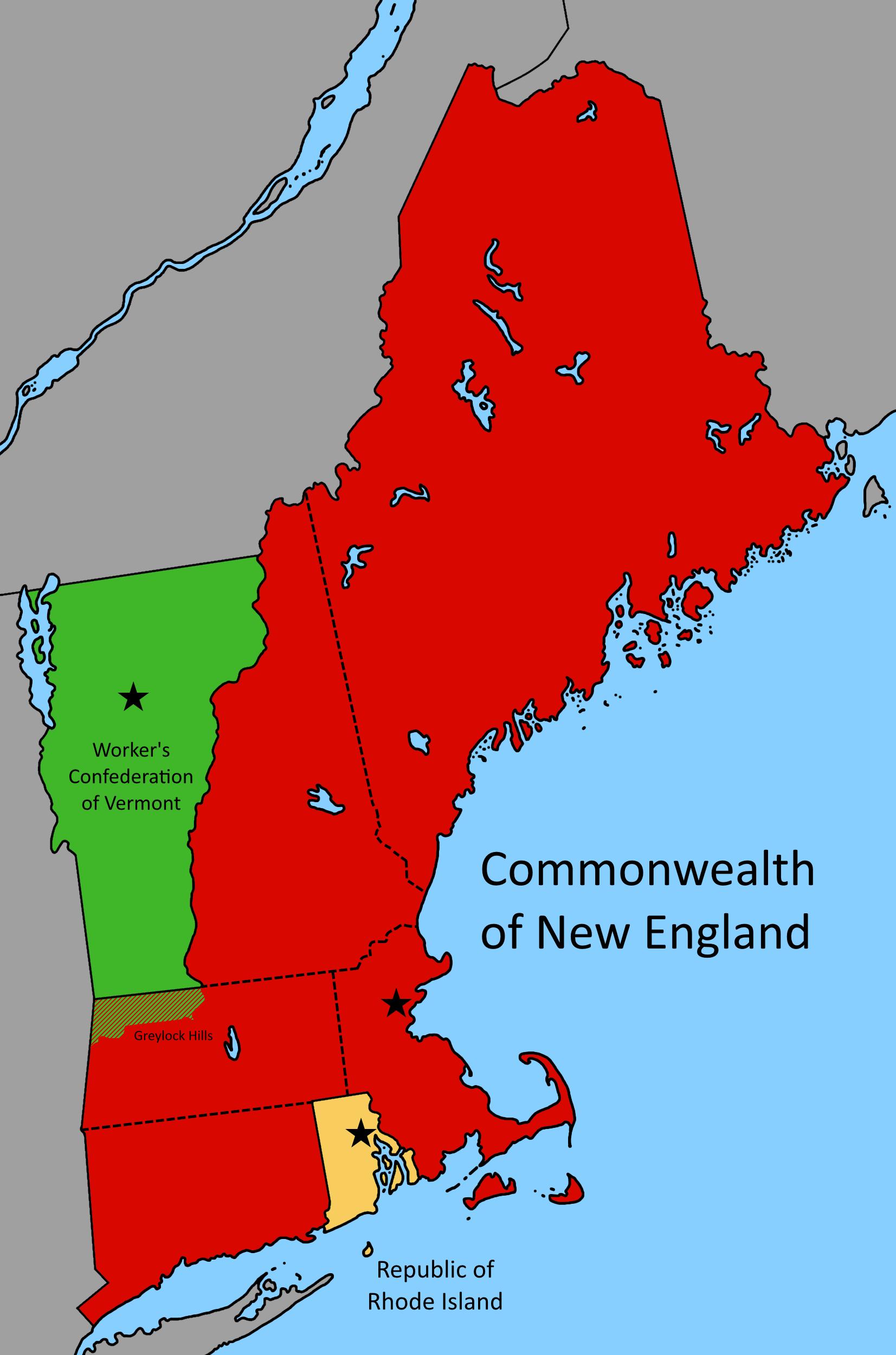 The New England Region In The Year Imaginarymaps