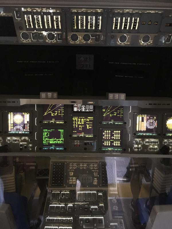 Instrument Panel on the Space Shuttle Independence : nasa