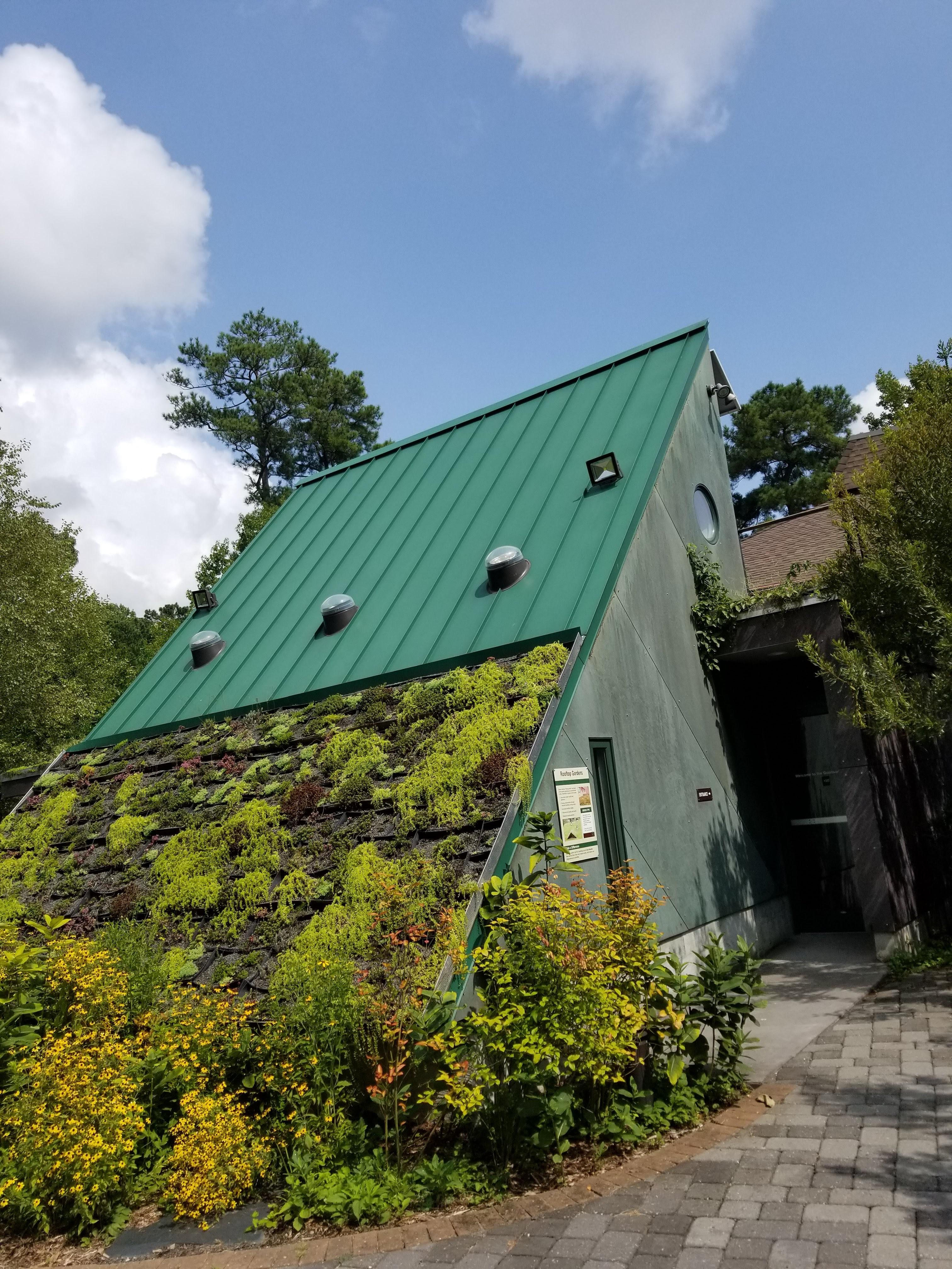 Green Concept Building With A Roof Garden At The Virginia