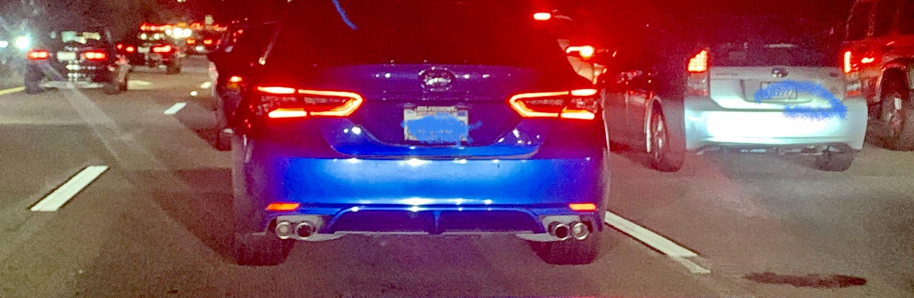 fake exhaust tips on new camrys why