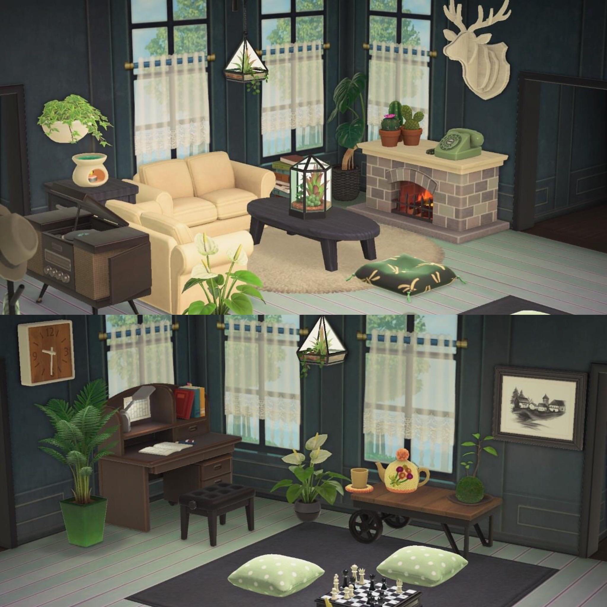 Love my new living room!! : AnimalCrossing on New Horizons Living Room  id=26262