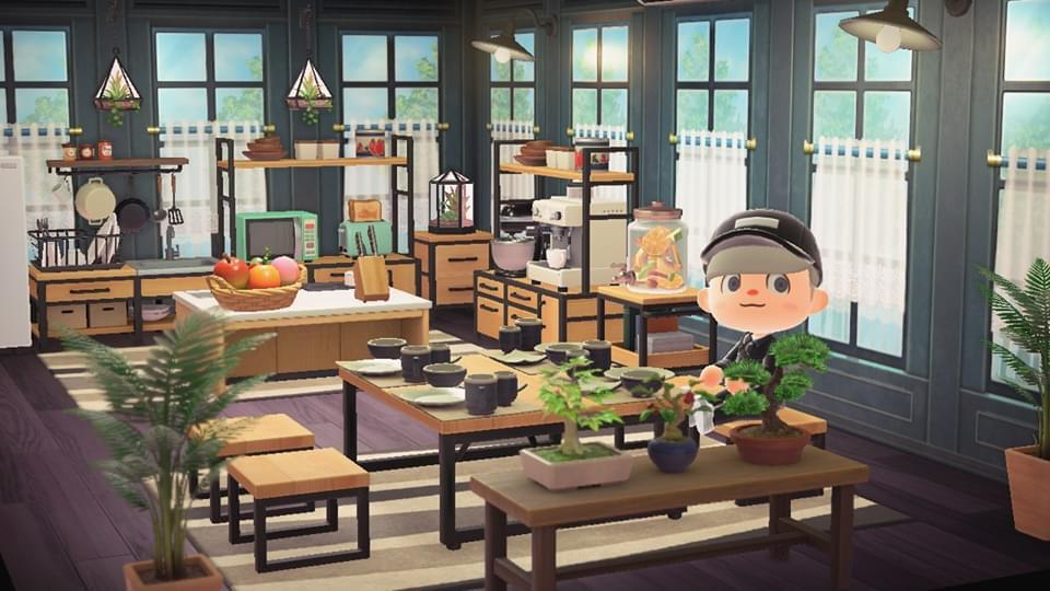 Finally finished my ironwood kitchen. : AnimalCrossing on Ironwood Kitchen Animal Crossing  id=89490
