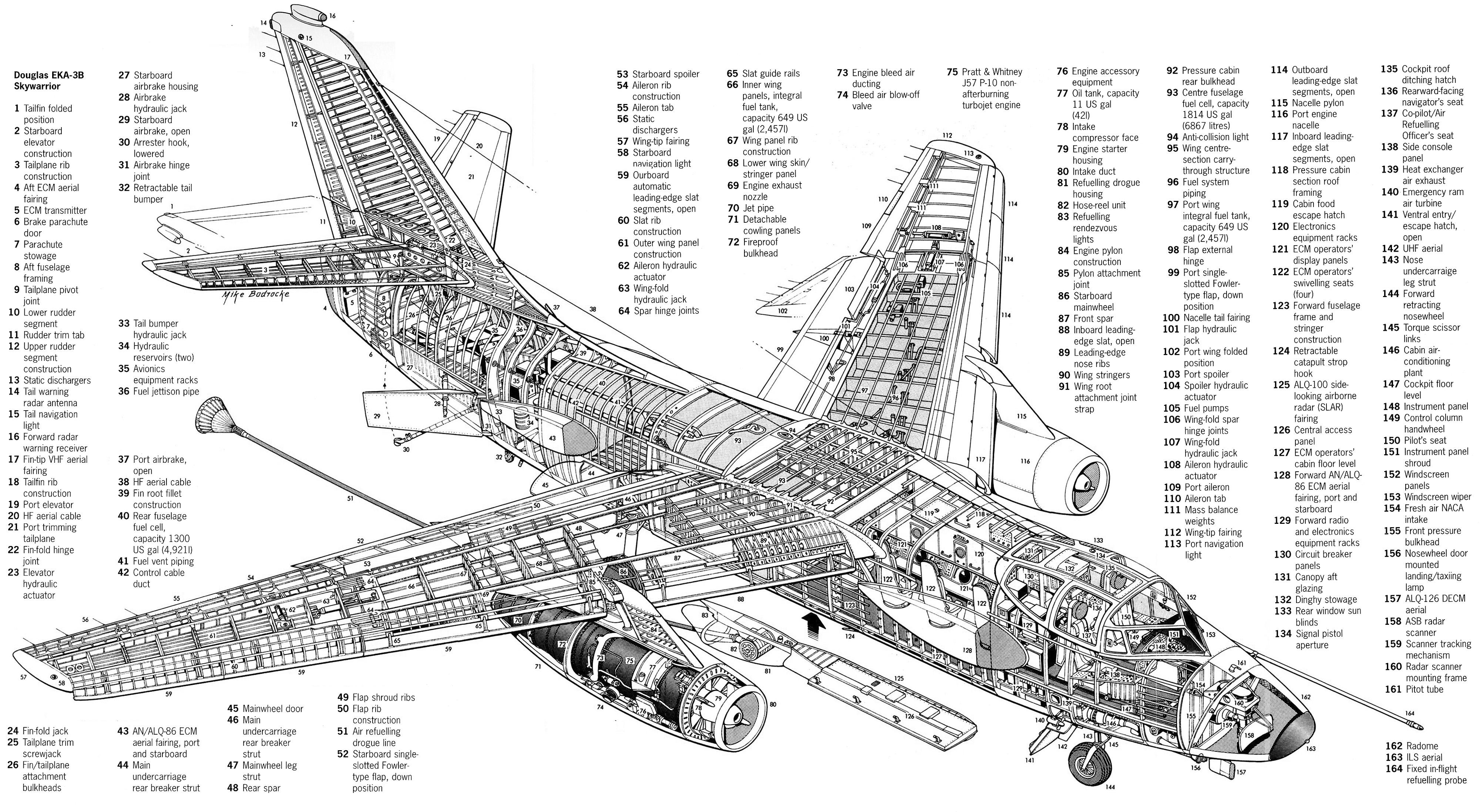 Douglas Eka 3b Skywarrior By Mike Badrocke X