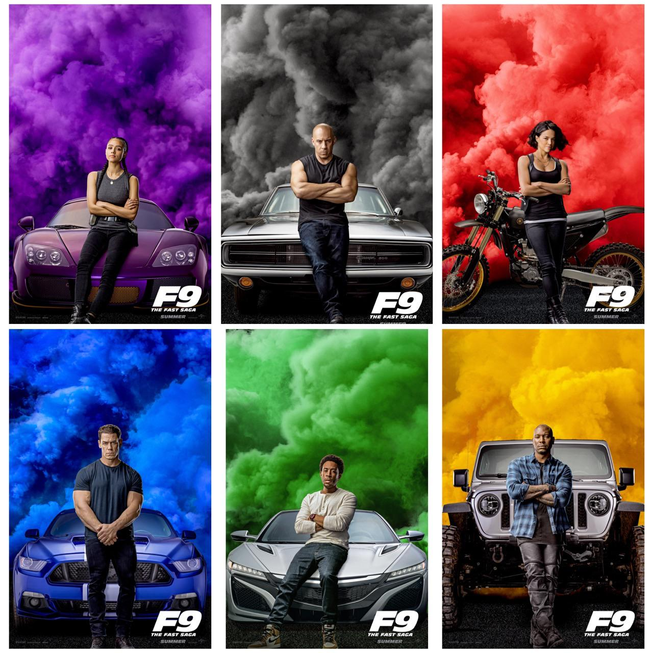 furious 9 official character posters