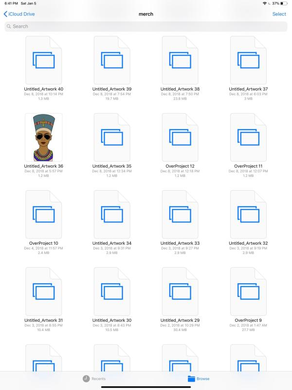 why I cant see thumbnails of this images on my folder : iCloud