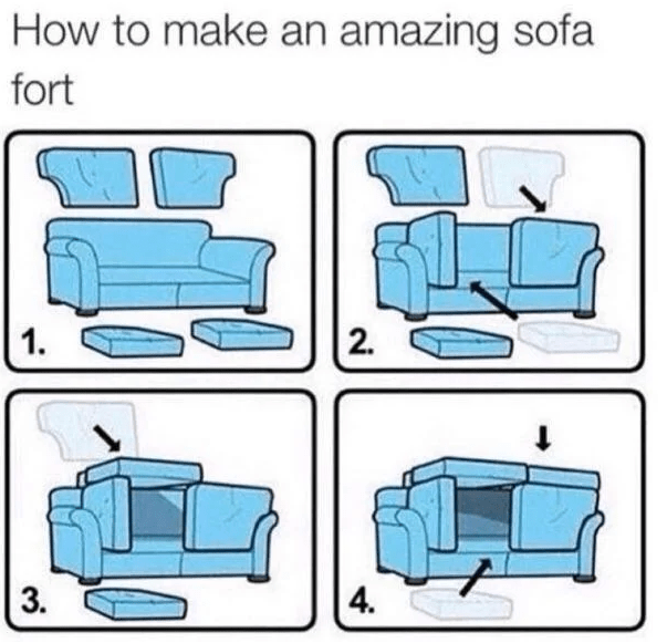how to make an amazing sofa fort