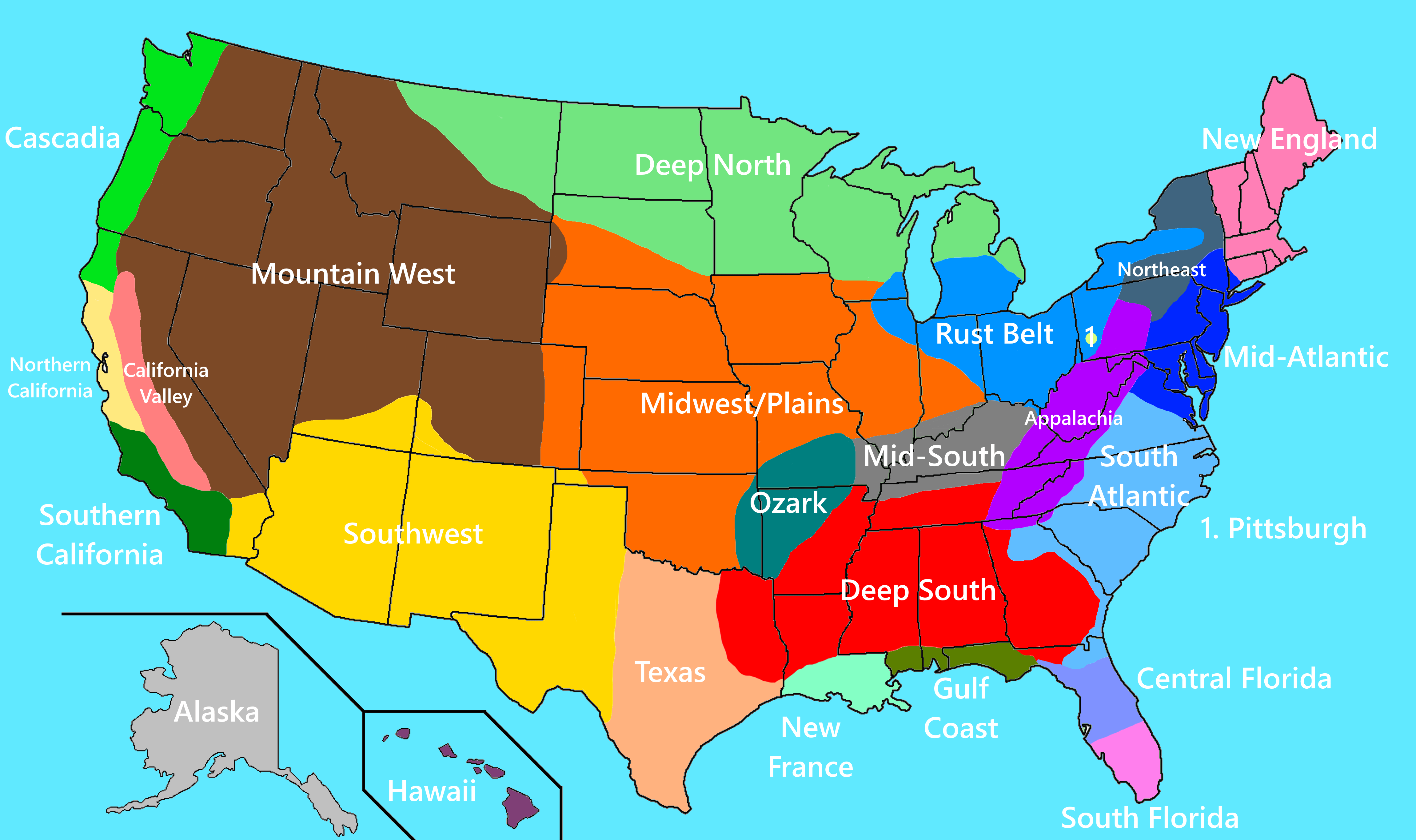 4th New And Improved Revised Regions Of The United States