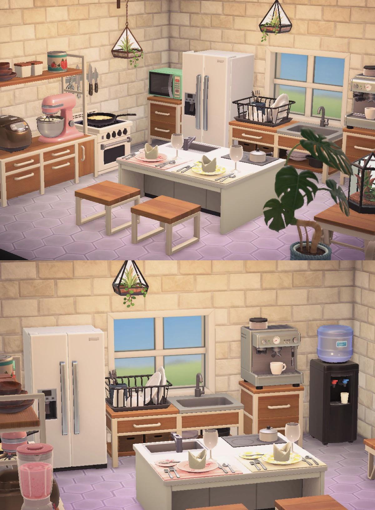 Finally completed my kitchen! I'm so proud! : AnimalCrossing on Animal Crossing Kitchen Island  id=12976