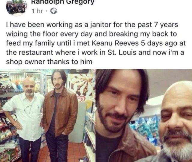 Keanu Reeves Is A Nice Guy