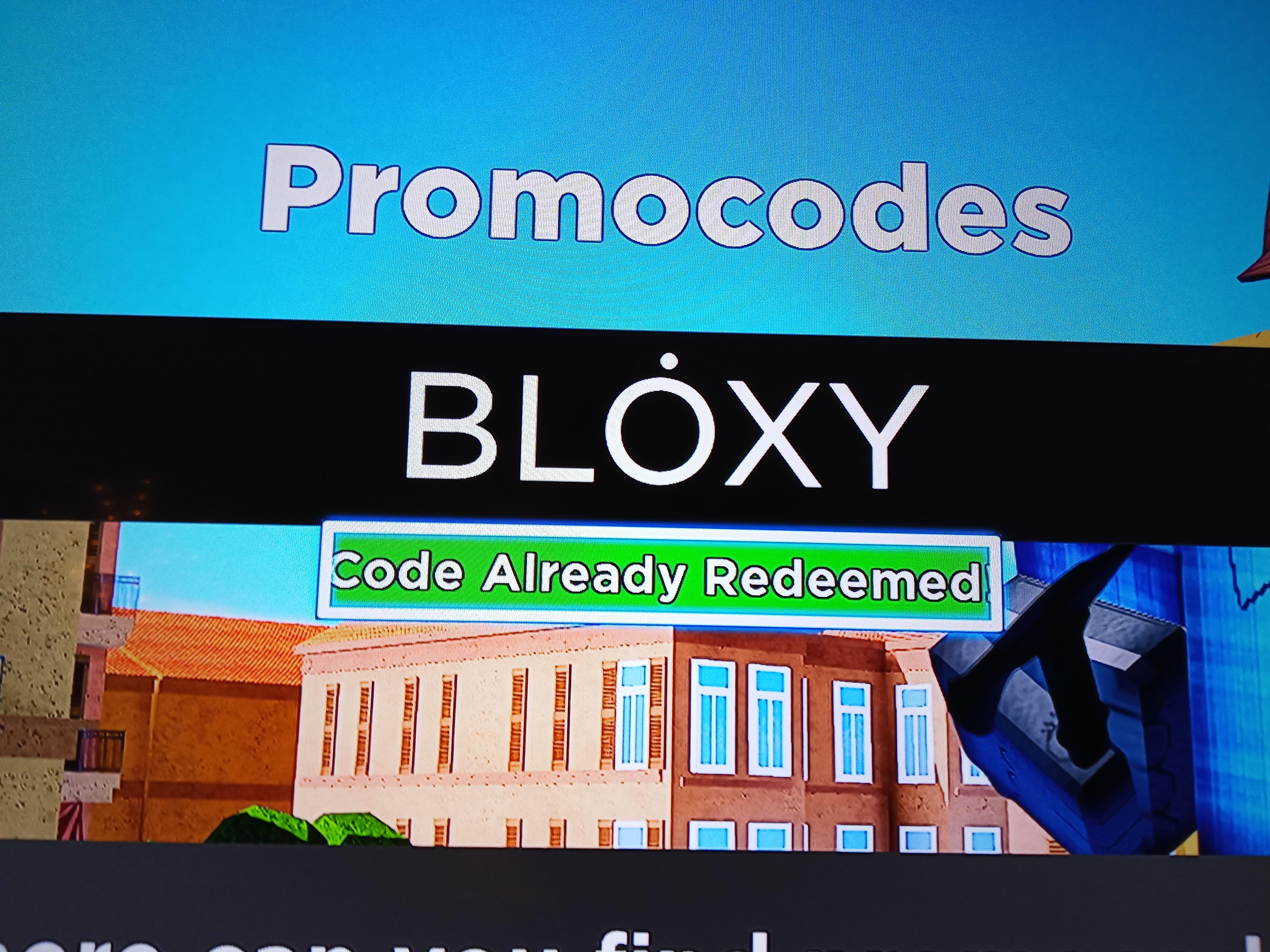 putting the code bloxy on arsenal