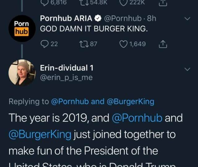 The Darkest Timeline Where Burger King And Pornhub Lead The Resistance