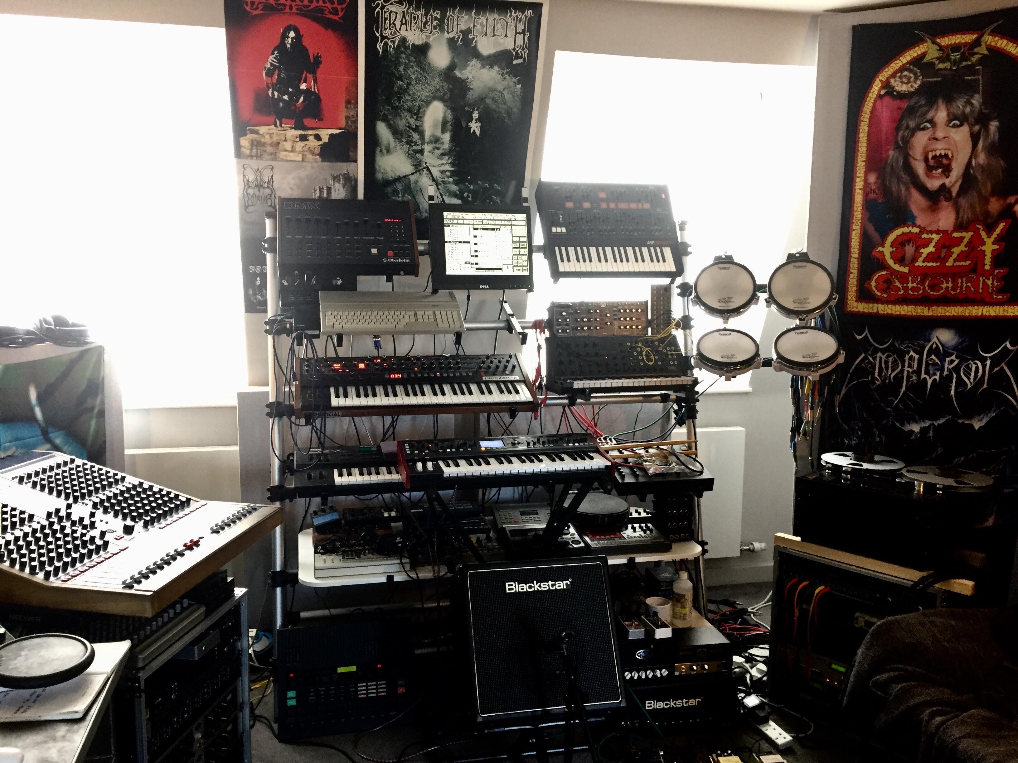 Tascam 8 Track Atari St Home Studio Musicbattlestations
