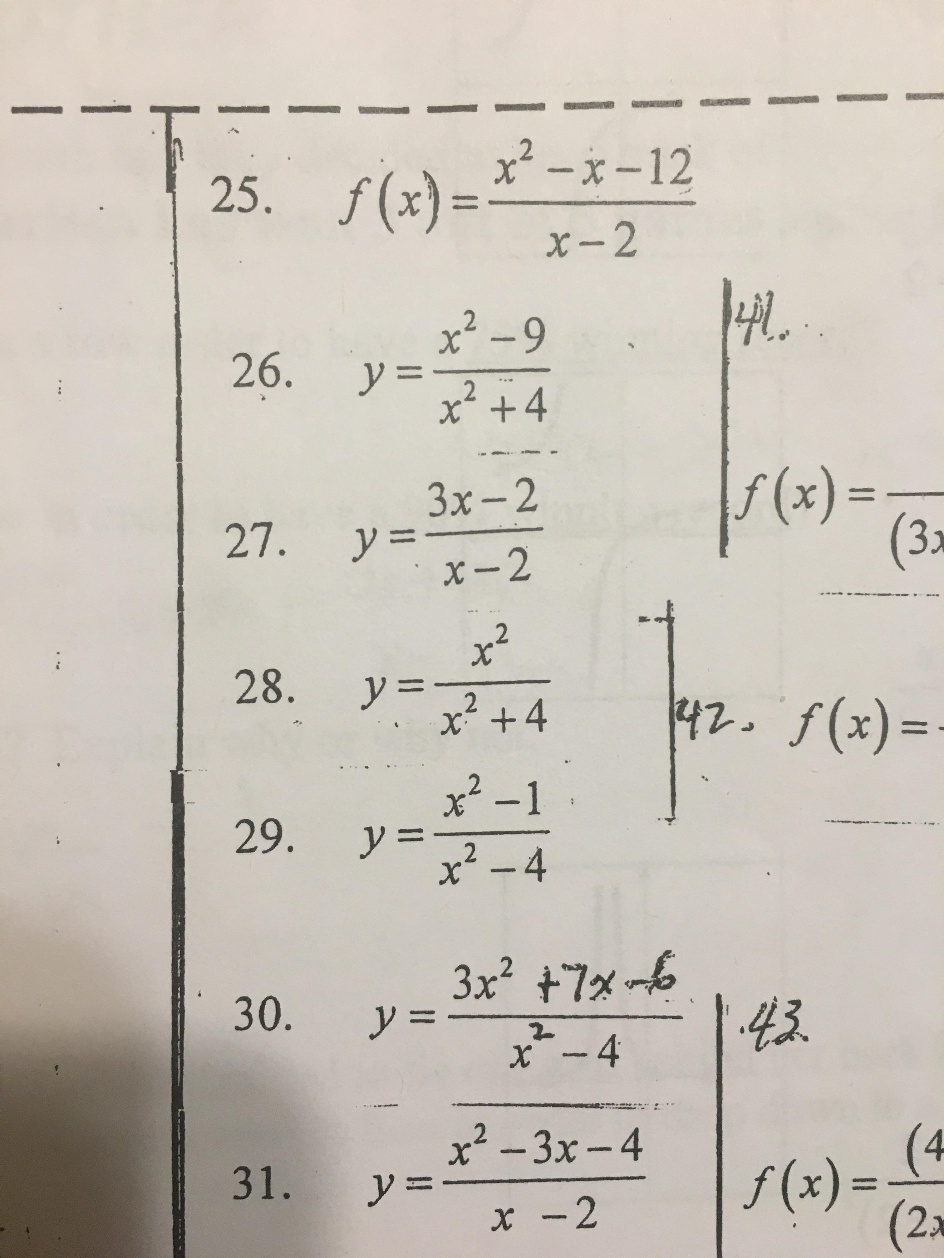 Algebra 2 How Do I Graph These I Know How To Find The X