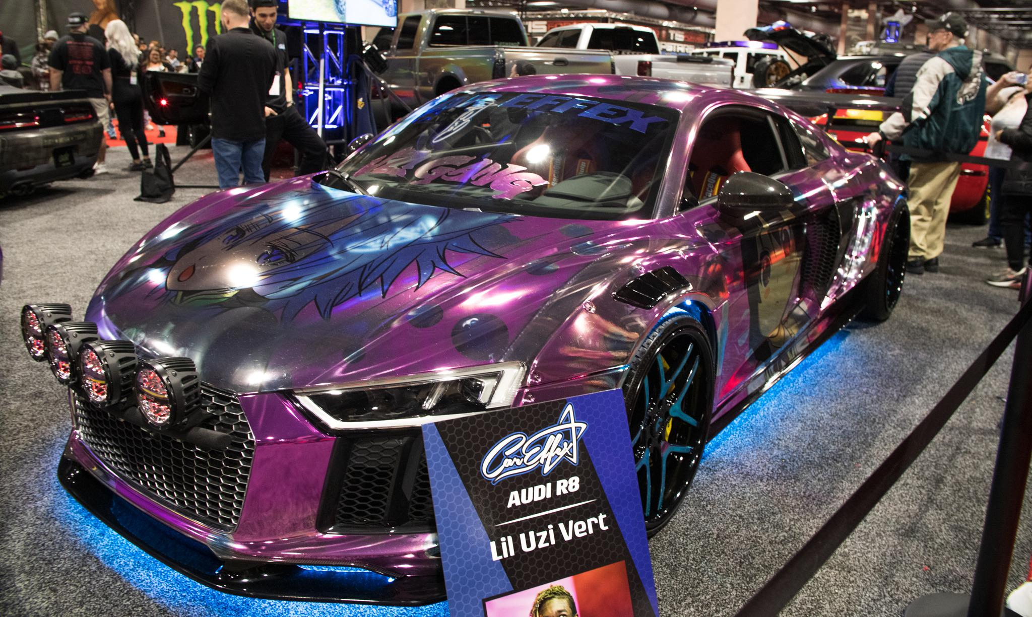 Uzi S Wrapped R8 At The Philly Auto Show Lil Uzi Vert Rage Central
