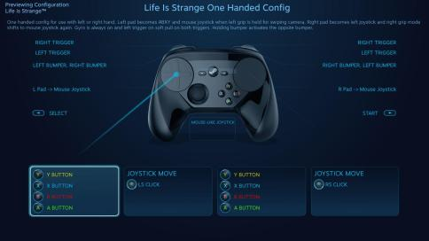 gamepad configuration
