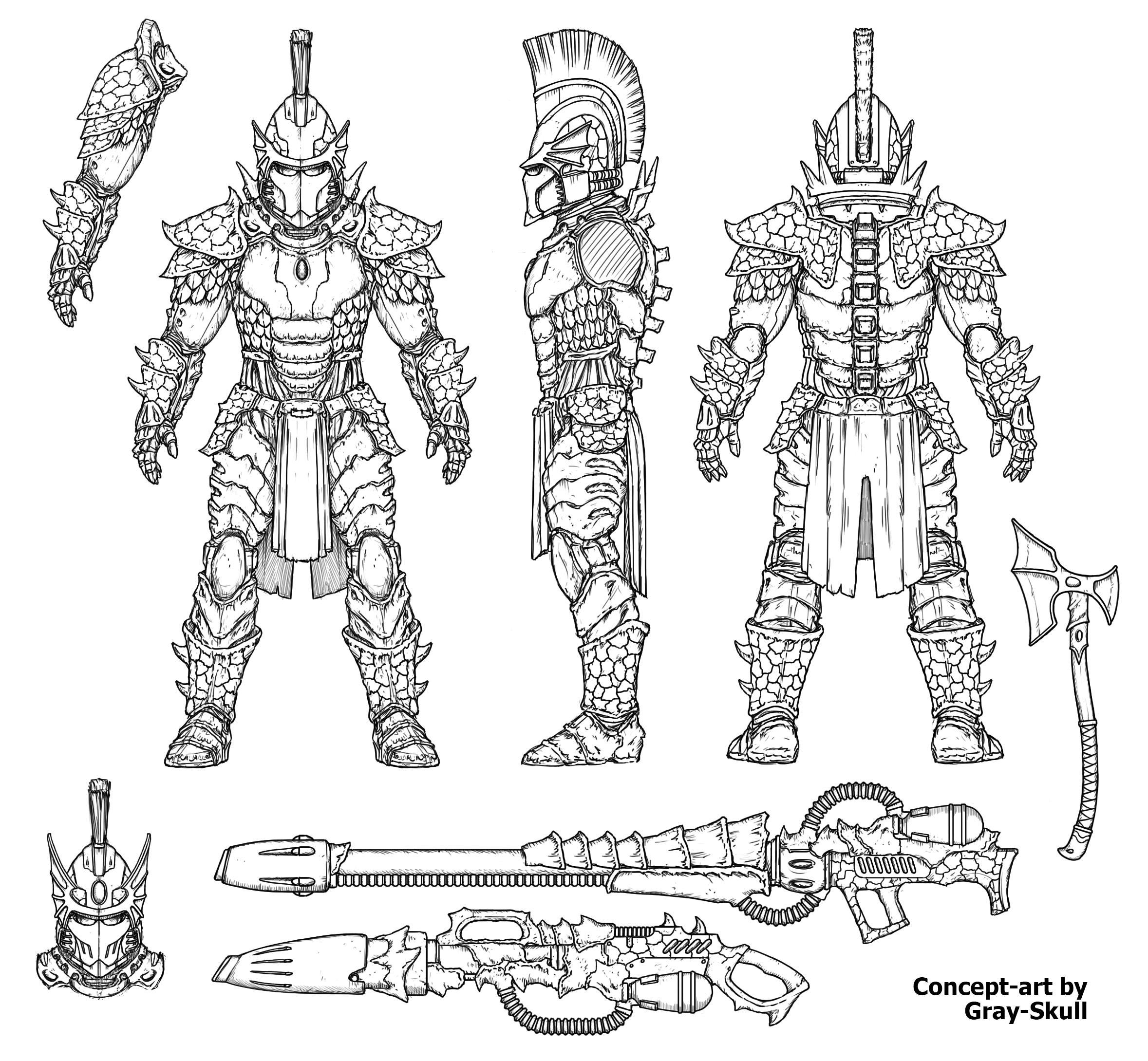 Eldar Fire Dragons Redesign By Gray Skull