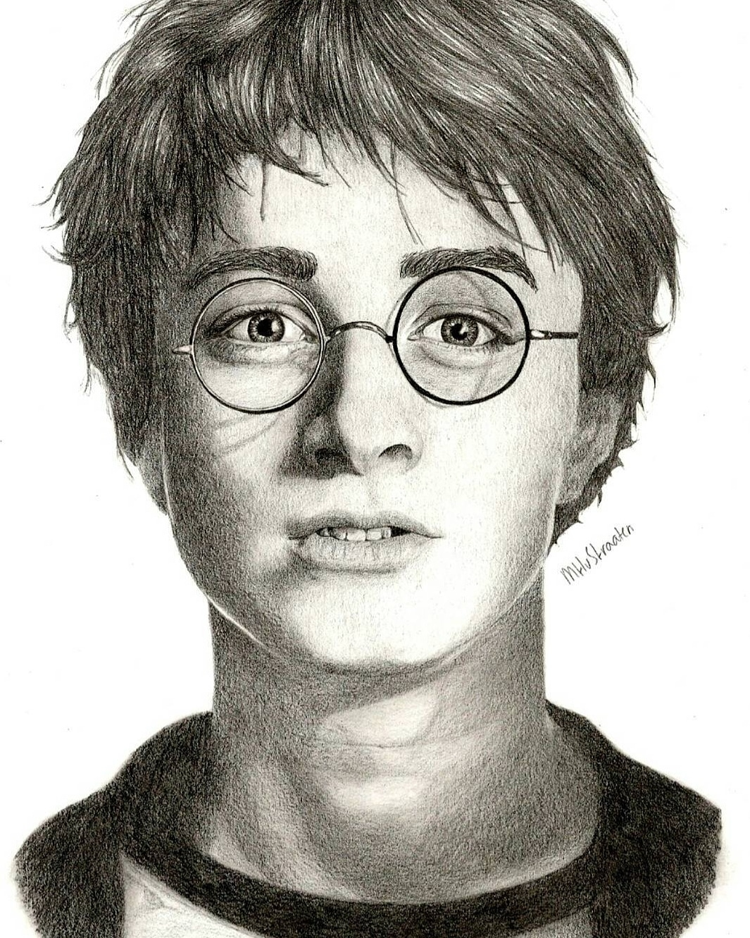 Portrait Drawing I Made Of Daniel Radcliffe As Harry