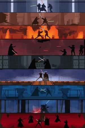 Every Lightsaber battle fan art : StarWars