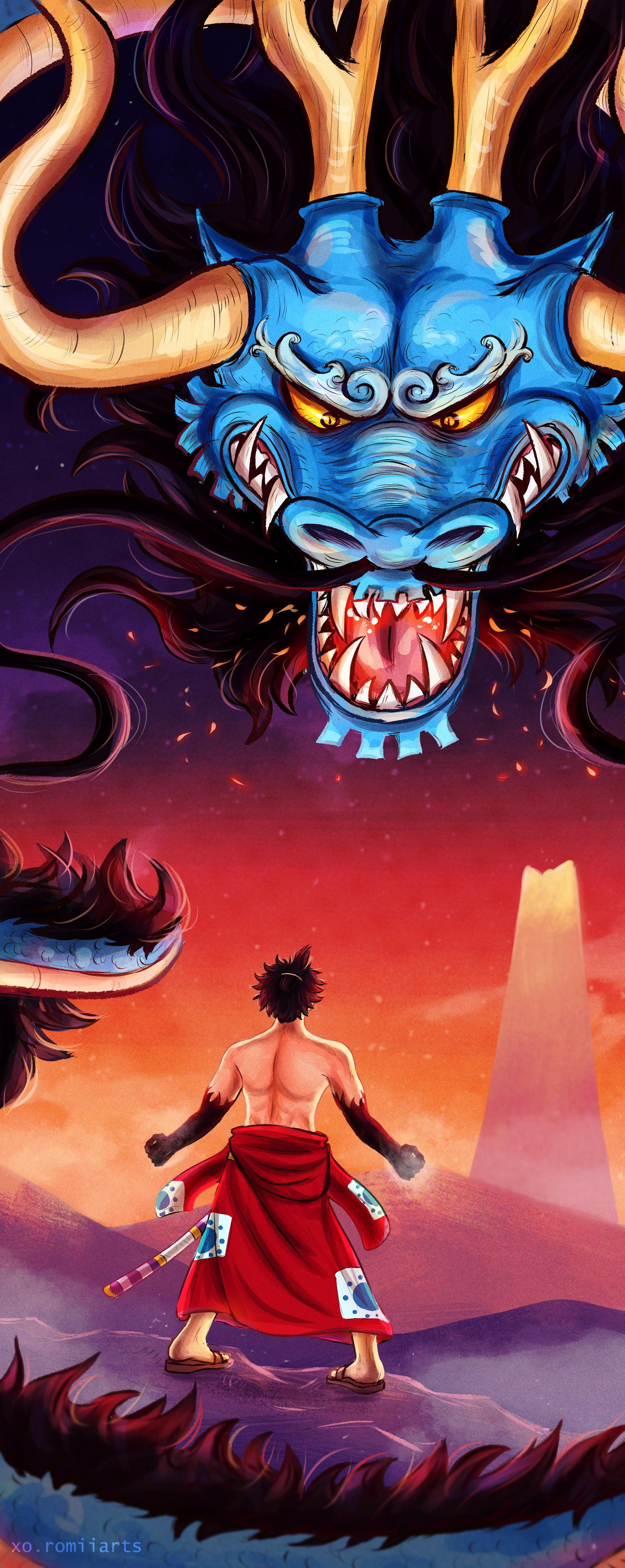 It's been a while since i've done any fan art, but i'm definitely not missing out on this one! One Piece Luffy Vs Kaido Full Fight