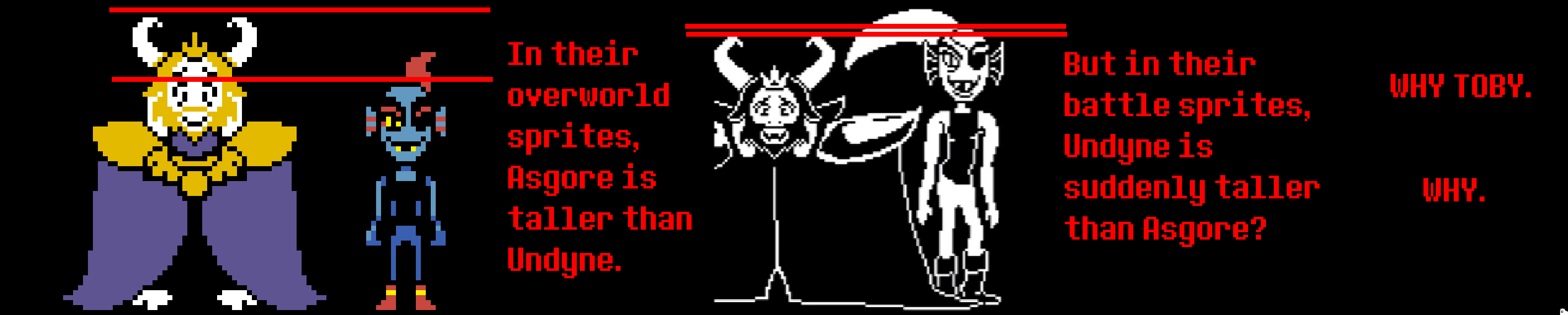 Undyne And Asgore Height Inconsistencies Undertale