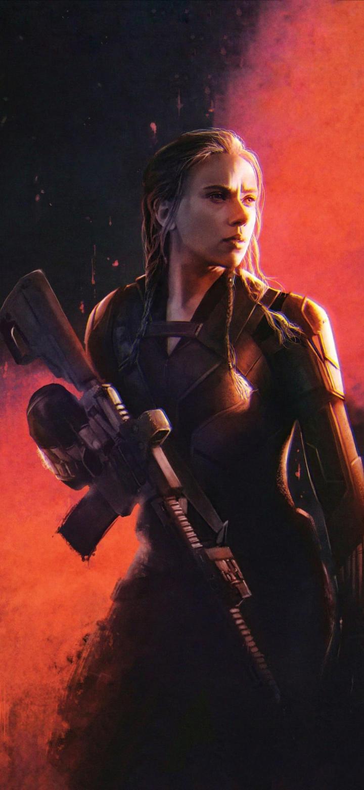 Black Widow wallpaper [1124×2440]