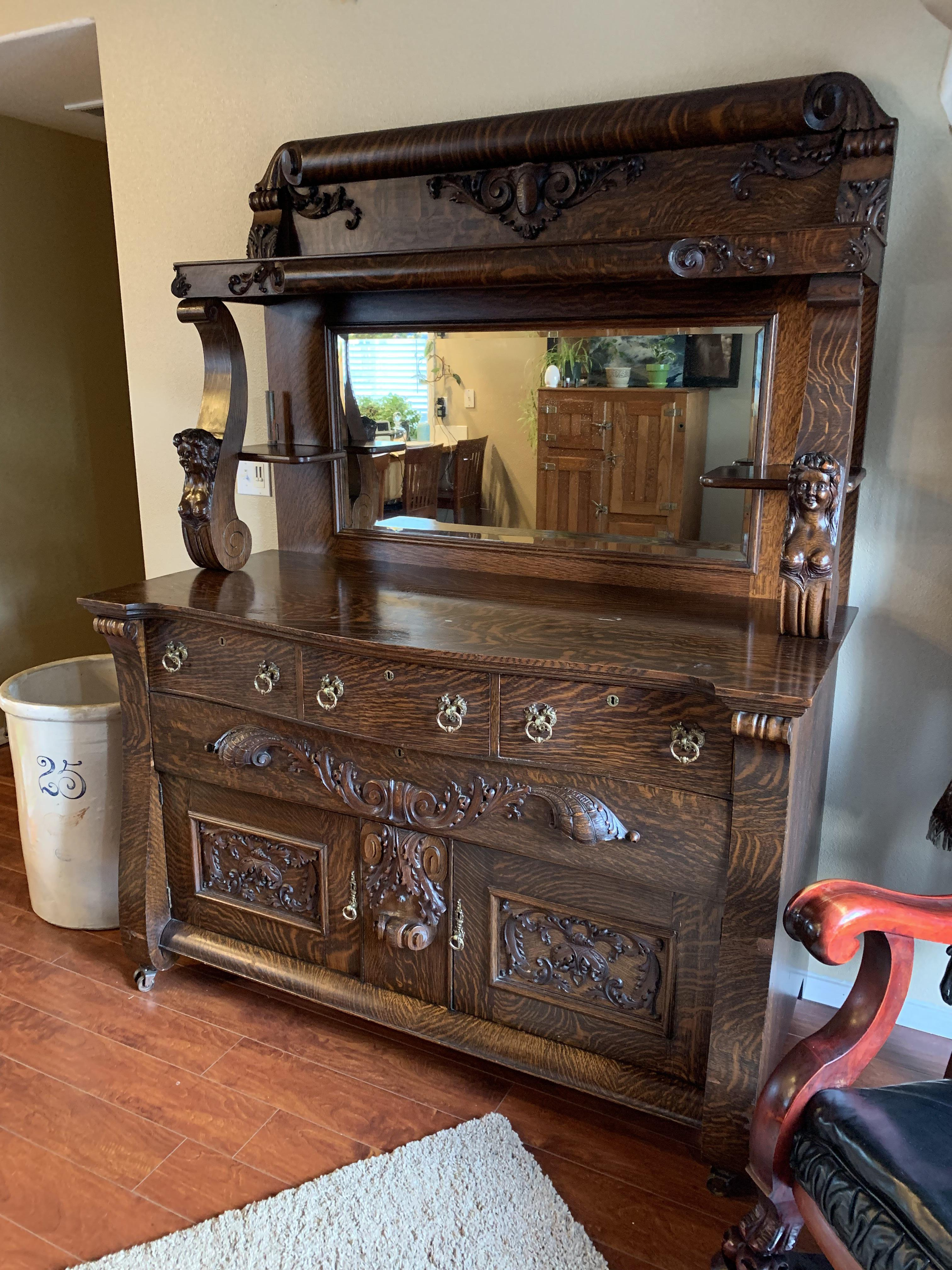 Antique Sideboard Buffet Has Been In My Family For A Long Time Thought You All Would Appreciate This I Do Not Know Much Of The History Any Information Is Greatly Appreciated