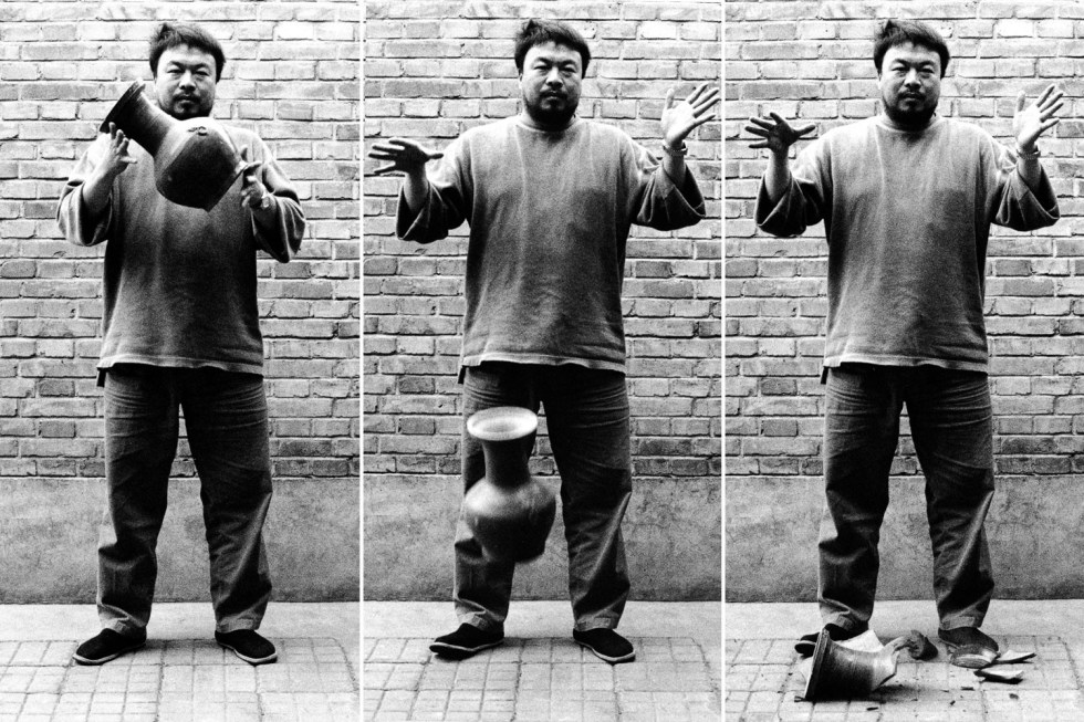Image result for Dropping a Han Dynasty Urn, by Ai Weiwei, 1995