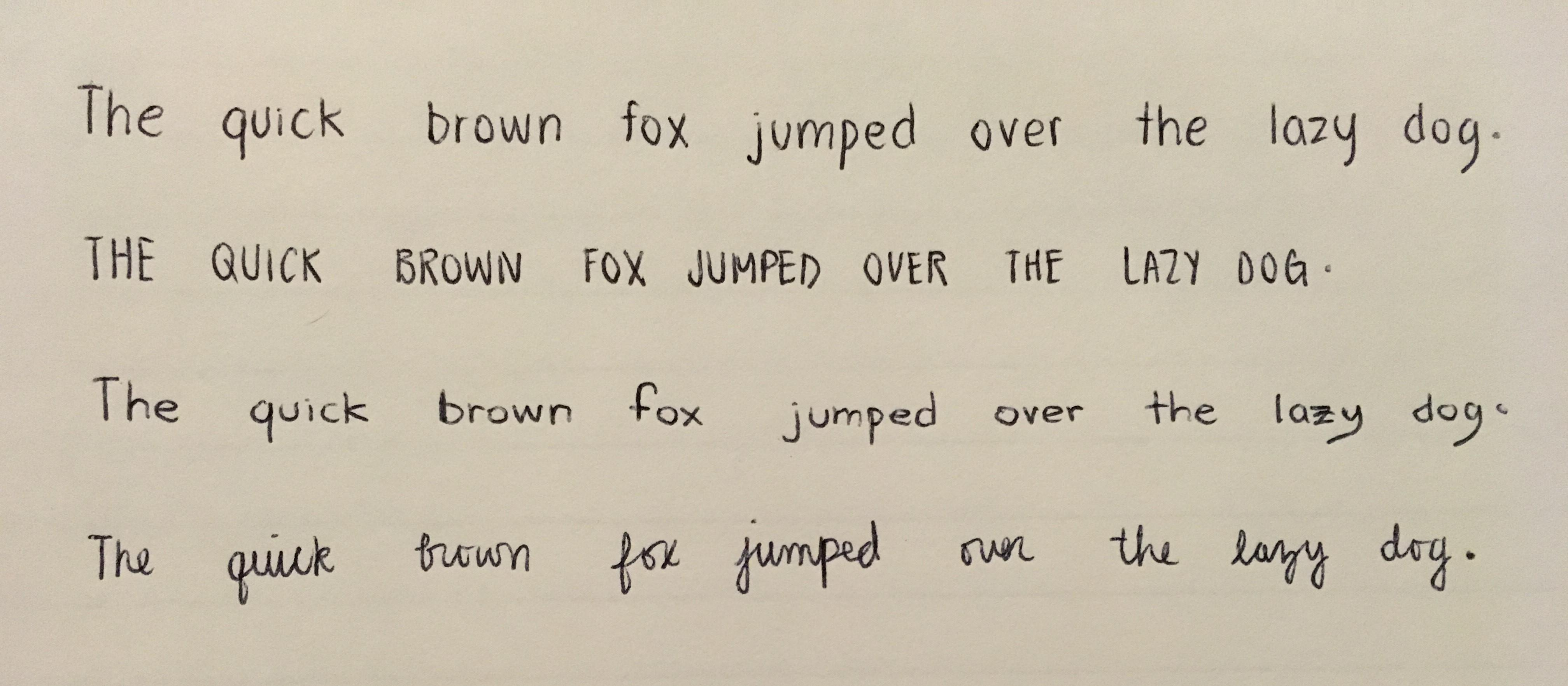 My Handwriting Need To Work On Cursive And Consistency
