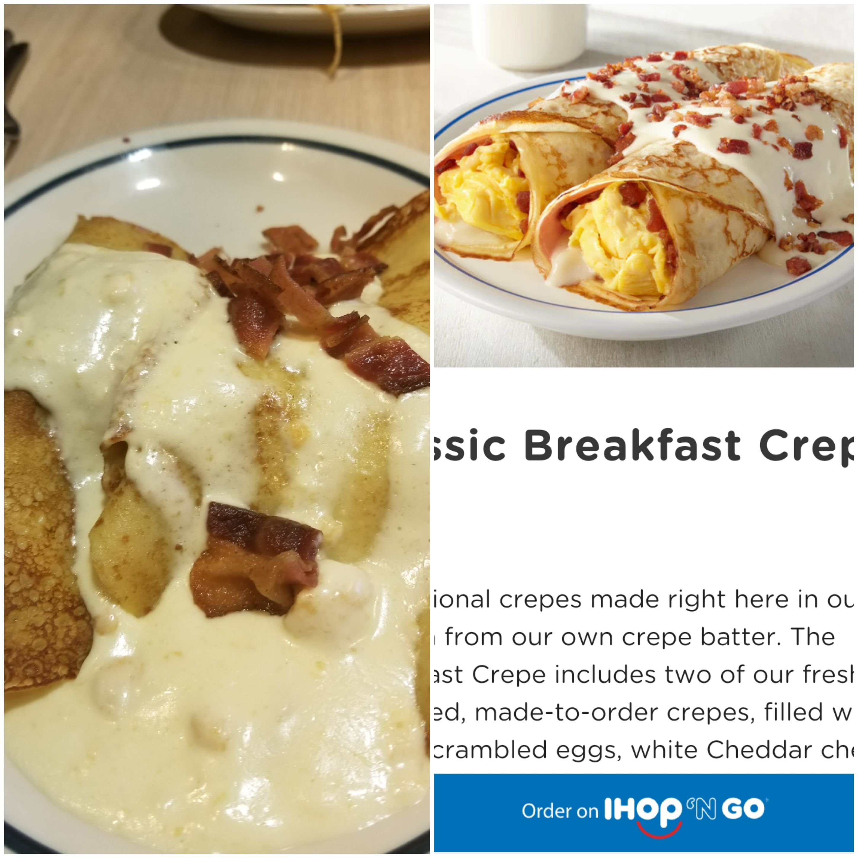 ihop breakfast crepes tasted about as good as they look