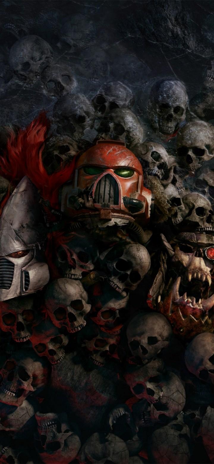 Warhammer 40k skulls wallpaper [1658×3600]