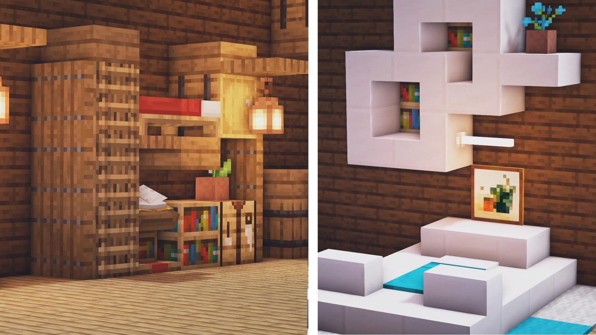 Cute Bunk Beds Minecraft Novocom Top