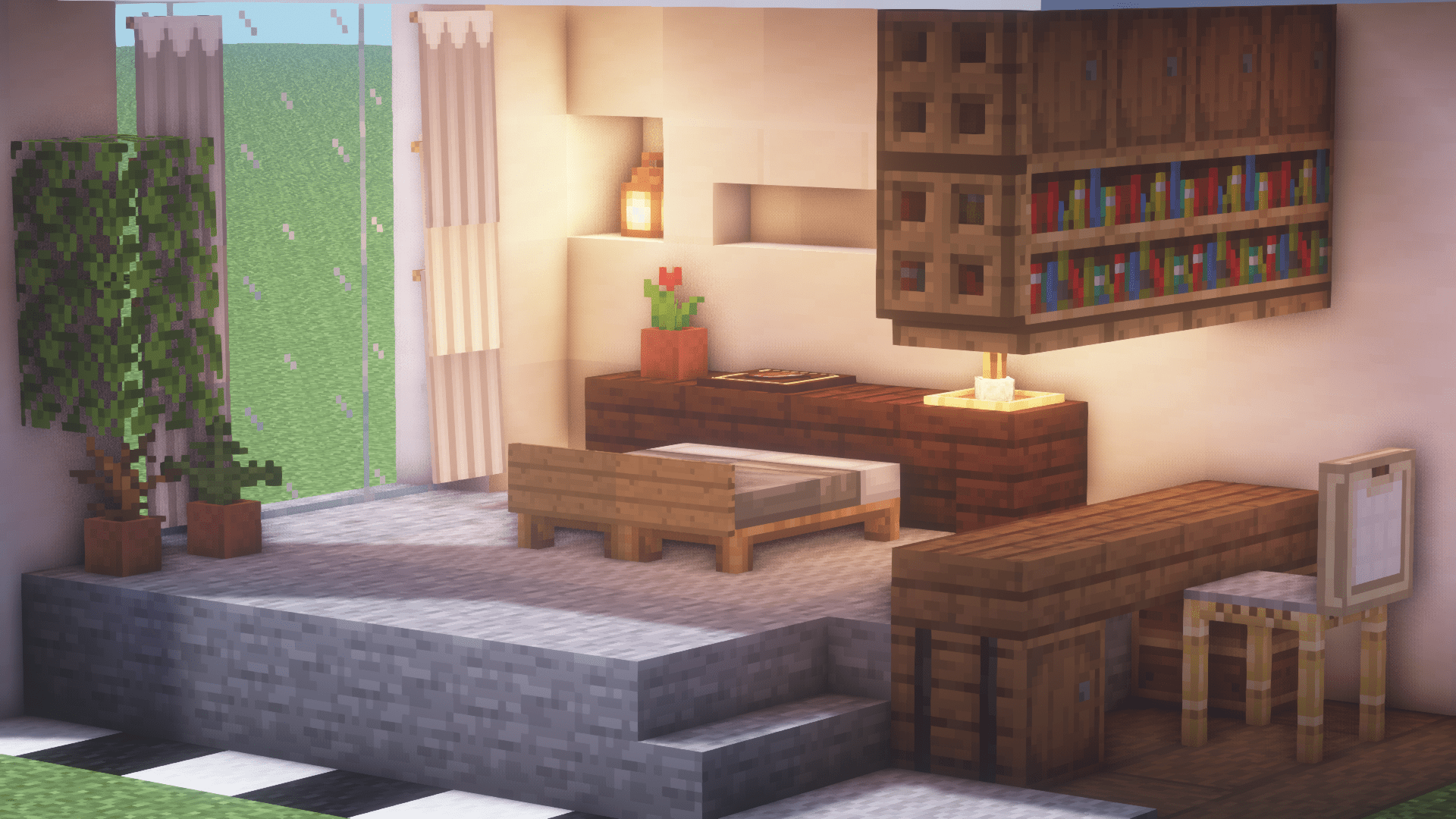These bedroom cleaning tips from clean sweep will keep your home clean. Minimalist Room : Minecraft